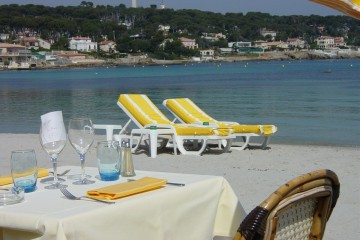 Dining at Plage Keller in France