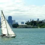 Sailing on San Francisco Bay, CA