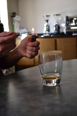 Lighting liquor for Coda Coffee Café Español