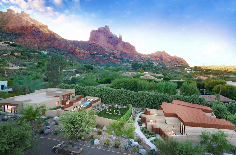 Sanctuary on Camelback Mountain - Spa House rendering