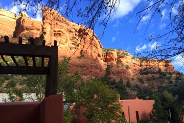 Front entry of Mii amo, a destination spa, in Sedona, Arizona.