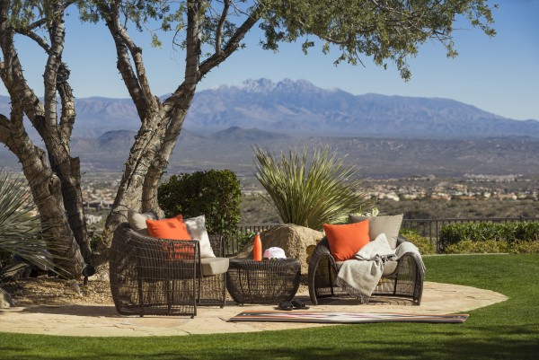 The lawns at CopperWynd Resort & Club in Fountain Hills offer an abundance of spots to relax and enjoy the views. Photo courtesy CopperWynd Resort & Club