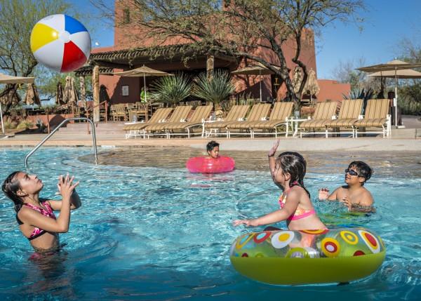Poolside fun. Photo courtesy Sheraton Grand Wild Horse Pass