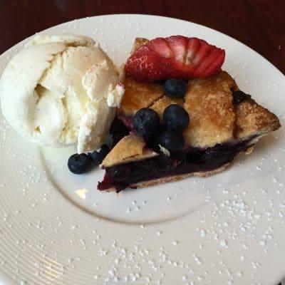 Berry Pie and Ice Cream