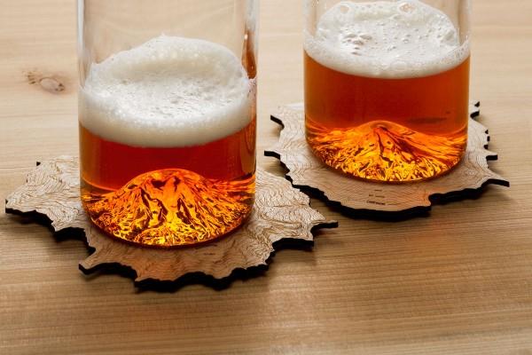 Photo: Mountain Glasses and Topo Coasters Photo courtesy: North Drinkware