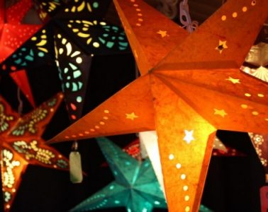 Paper stars from Germany. Photo courtesy German American Chamber of Commerce Colorado/Denver Christkindl Market
