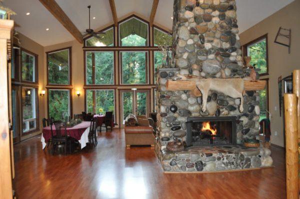 River Rock Inn Grand Room Fireplace