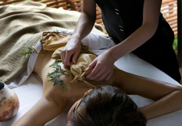 Sacred Waters Massage with Cedar at Aspira Spa. Photo courtesy Osthoff Resort