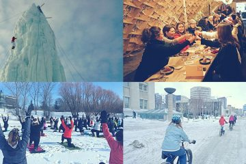 Snowy Fun in Winnipeg