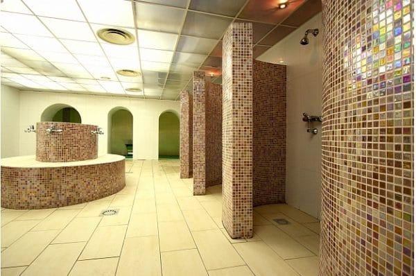 Latvia Sauna - Balta Pirts Shower Room. Photo by Ann Randall