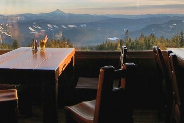 Sunset at Timberline Lodge