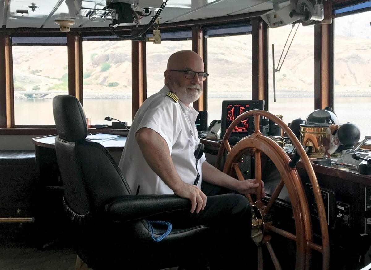 UnCruise Adventures ship wheel