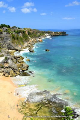 Beach at Ayana Resort, Jimbaran Bay, Bali. Photo by Susan Lanier-Graham