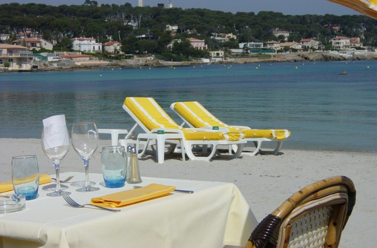 Dining at Plage Keller in France