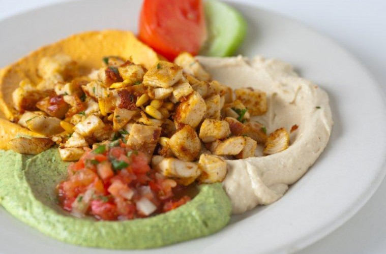 Pita Jungle Chicken and Hummus
