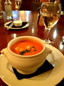 Tomato soup at Le Metro Bar
