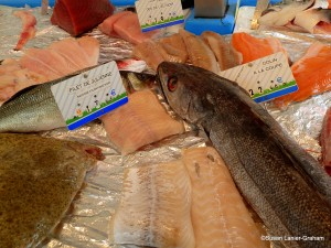Fish from the fishmonger in Noyers sur Serein