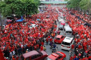 """Red Shirt"" protest at Ratchaprasong intersection, Bangkok"