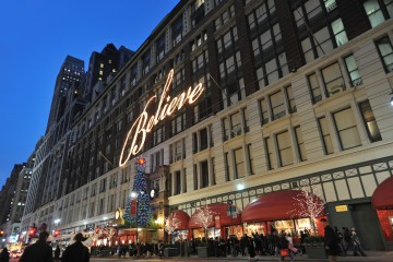 Macy's Herald Square decorated for the holidays. Photo credit: Macy's Inc.