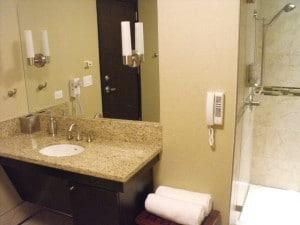 Bathroom at DFW Minute Suites