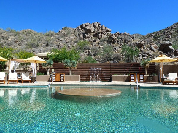 Spa Pool at Ritz-Carlton Dove Mountain Tucson. Photo by Susan Lanier-Graham