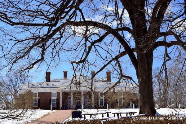 Monticello in the snow
