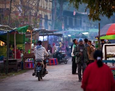 A street market in Kalaw Burma by Tom Godber