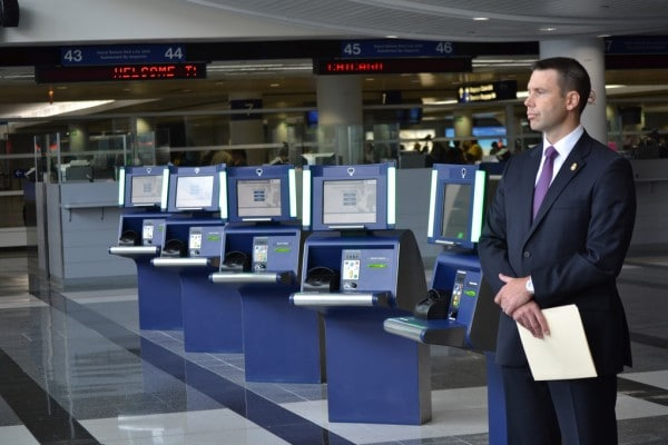 CBP Partners with Chicago Department of Aviation to Launch Self-Service Kiosks at O'Hare. Photo by U.S. Customs and Border Protection