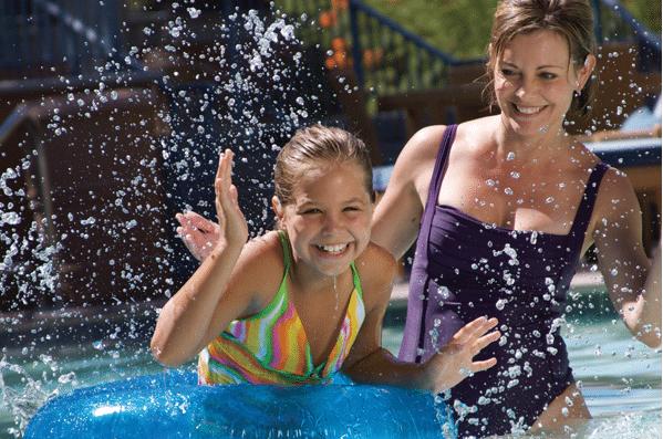 Playing at Sonoran Splash pool
