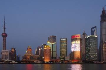 Shanghai Skyline from the Bund by Wilson Hui