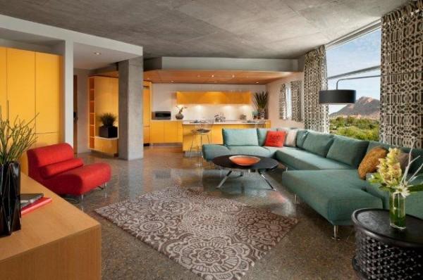 Loft Suite Living Room + Kitchen