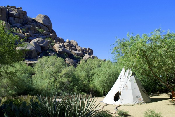 The Boulders Tipi. Photo by Susan Lanier-Graham