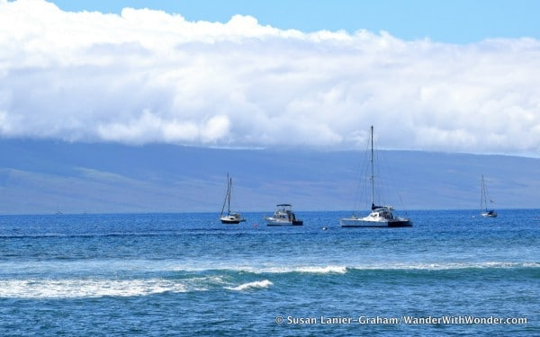 View of Lanai from Lahaina