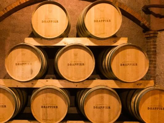 Allier oak barrels at Champagne Drappier