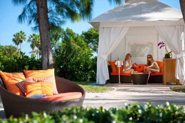 Private cabana for two