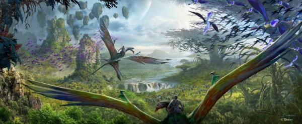 AVATAR Flight of Passage at Disney's Animal Kingdom -- This E-ticket attraction, the centerpiece of Pandora, allows guests to soar on a Banshee over a vast alien world. The spectacular flying experience will give guests a birds-eye view of the beauty and grandeur of the world of Pandora on an aerial rite of passage. (Disney Parks) (PRNewsFoto/The Walt Disney Company)