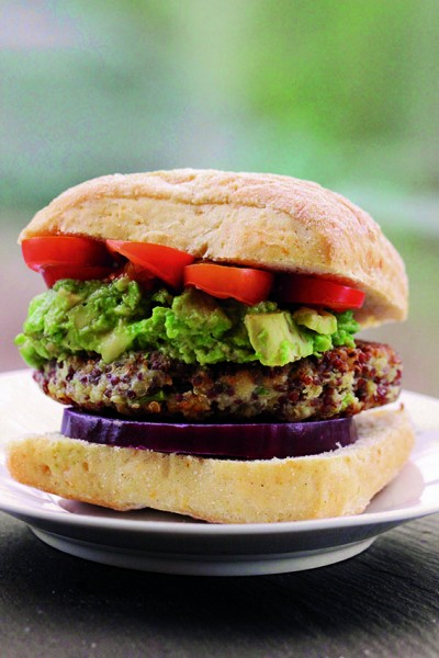 Cauliflower and Quinoa Burger in Friends, Food, Family