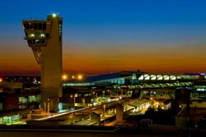 Terminal A West at night. Photo courtesy Philadelphia International Airport
