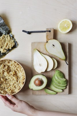 HealthyJapaneseCooking - Avocado and Pear Quinoa