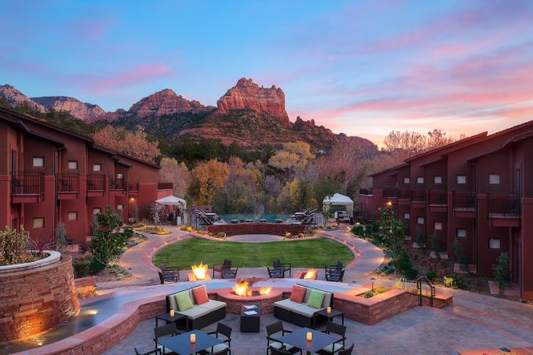 Enjoy evenings around the firepit at Kimpton Amara Resort in Sedona, an ideal Holiday Gift Guide addition