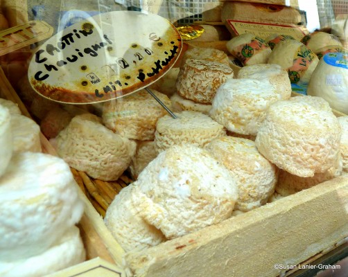 French cheese on display. Photo by Susan Lanier-Graham
