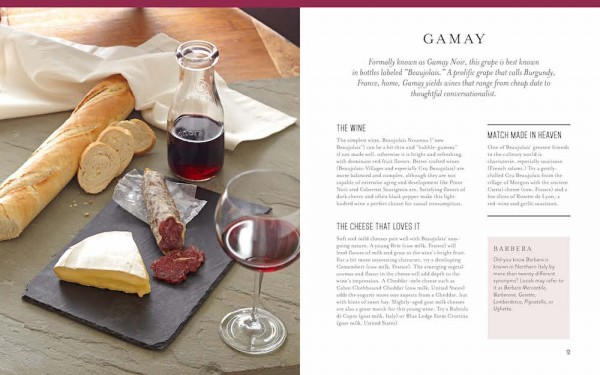 Tasting Wine and Cheese - Gamay page