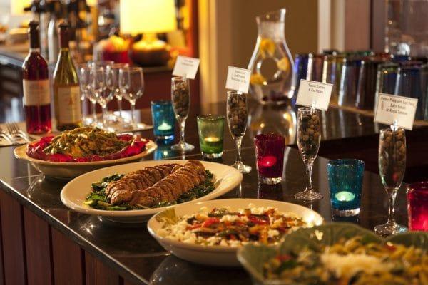 Wine Hour Buffet at Brewery Gulch Inn. Photo courtesy Brewery Gulch Inn