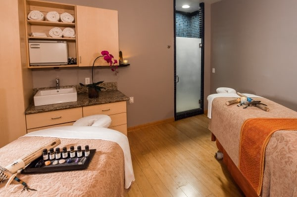 Couples room at Amara Spa.