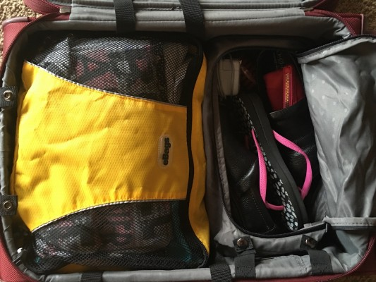 Clothes packed in DELSEY