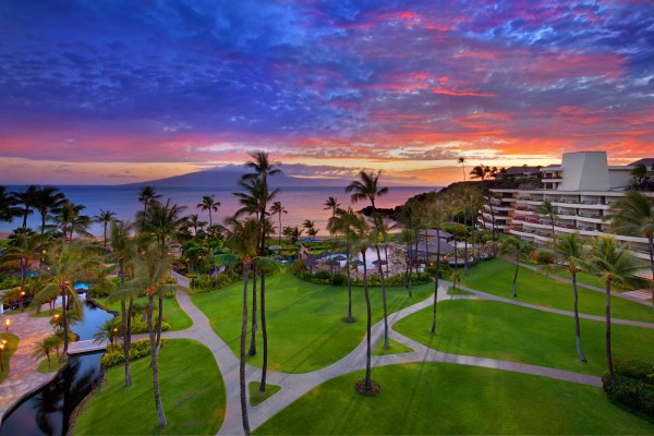Sheraton Maui - exterior at sunset
