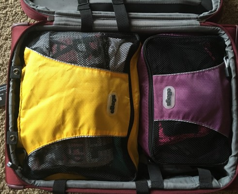 DELSEY Montmartre+ packed with three eBags cubes.