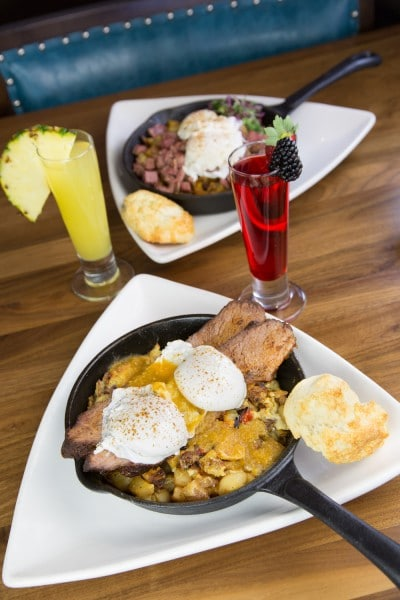 Brunch offerings at The Hash Kitchen