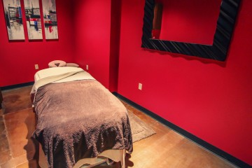 Fuchsia Massage Room. Photo courtesy Fuchsia Spa.