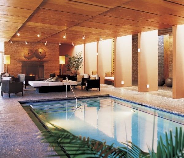 The indoor pool is perfect for swimming or lounging. Photo courtesy Mii amo